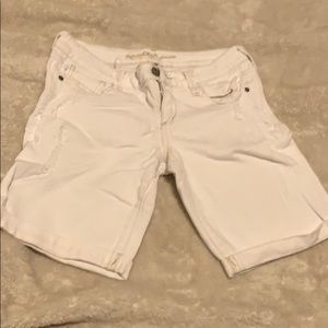White shorts with little distressing